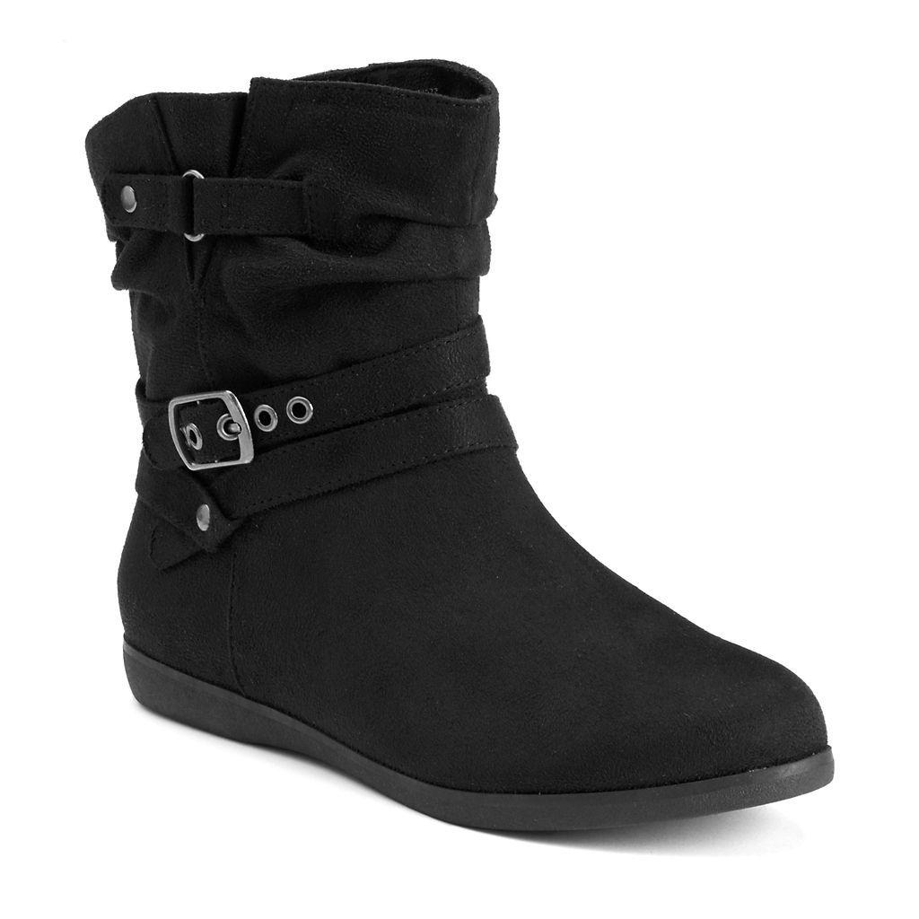 SO® Women's Slouch Ankle Boots | Kohls