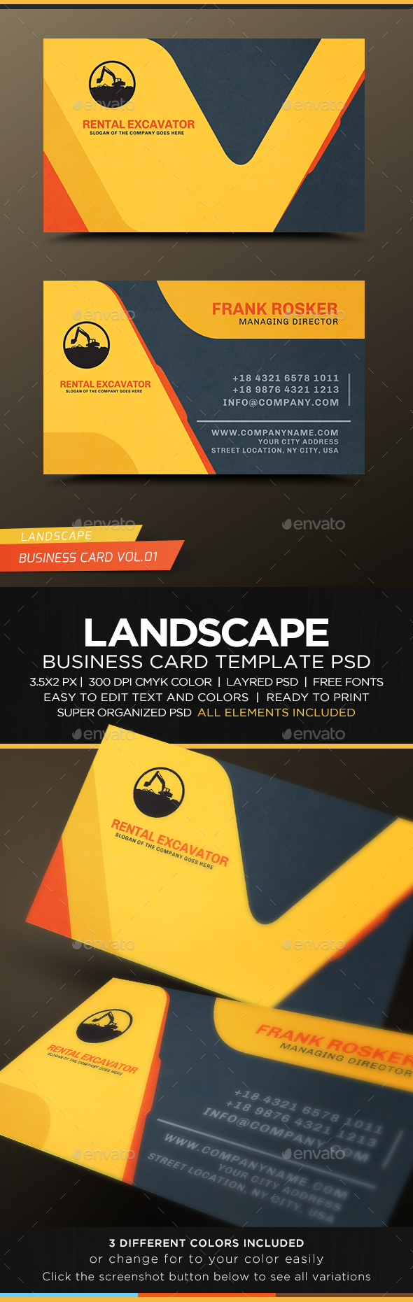 Landscape Business Card Vol.01 | Business Card | Pinterest ...