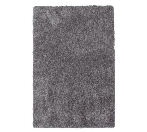 Collection Two Tone Supersoft Deep Pile Rug Grey At Argos Co Uk