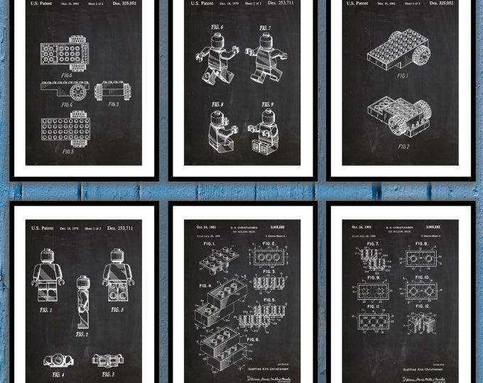 Patent Print of a Lego Toy Building Blocks Patent Art Print Patent ...