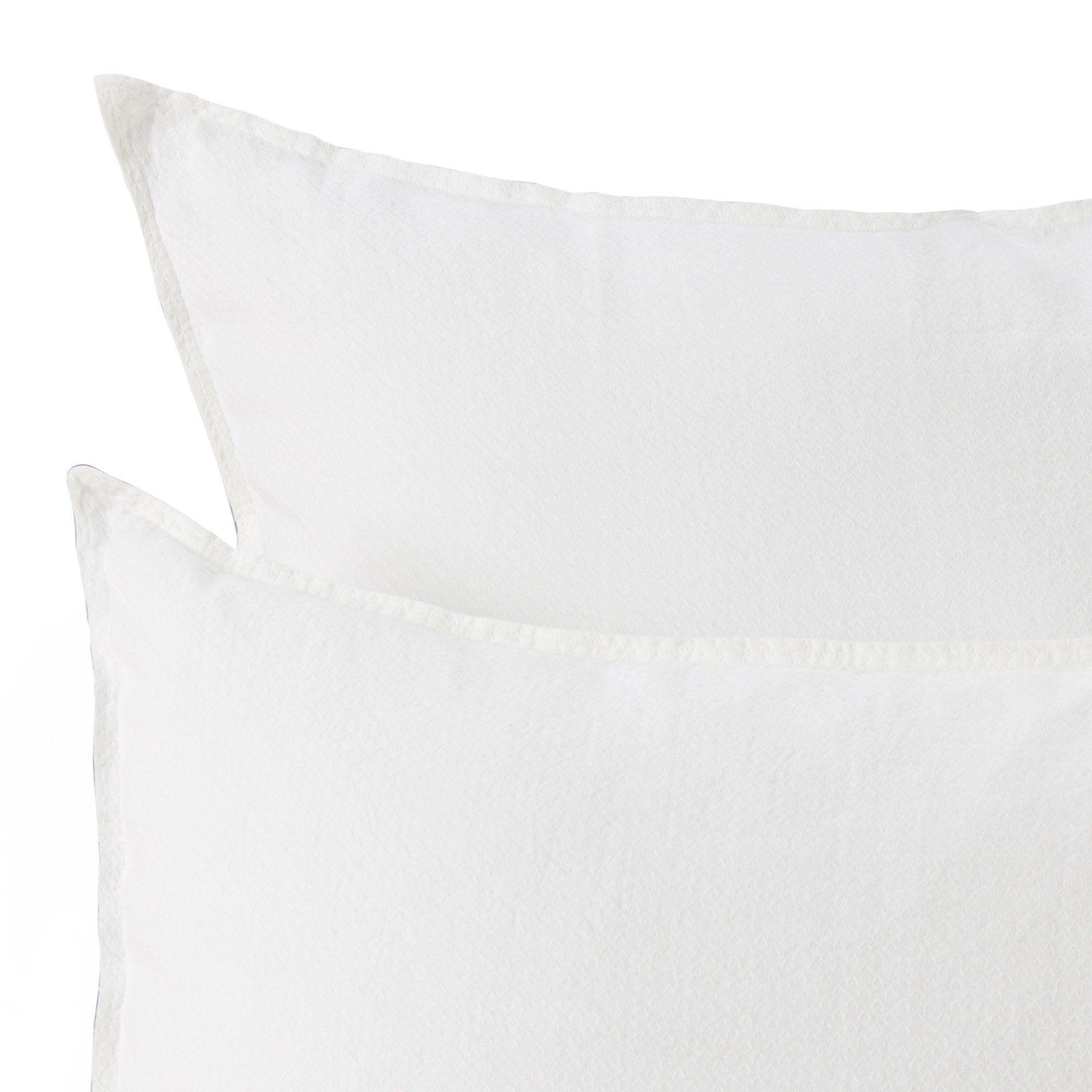 Leinen Bettwasche Lousa Naturweiss 155x220 Cm Kissenbezuge