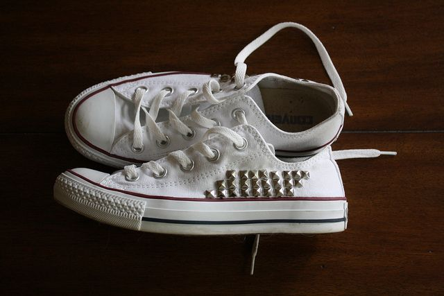 studded chucks  - by kapalizzolo, via Flickr