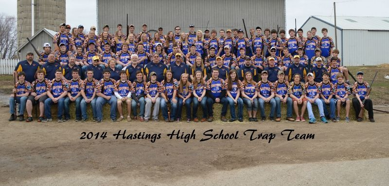 Hastings high school trap team use's Gun Mouse in their school colors.