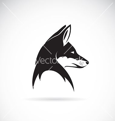 Image Of An Fox Head Vector Art Download Vectors 2625453 Fox Silhouette Silhouette Vector Fox Head
