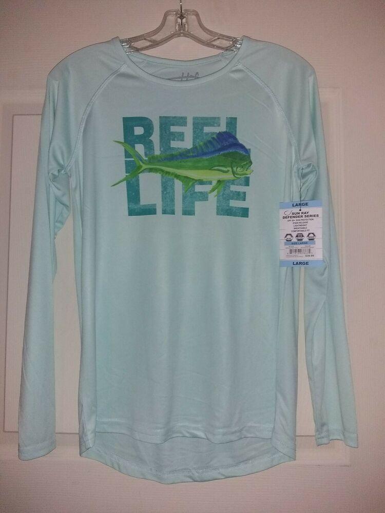 b14a7a1f1b7 Sun Ray defender series UPF 50 size large fishing shirt #fashion ...