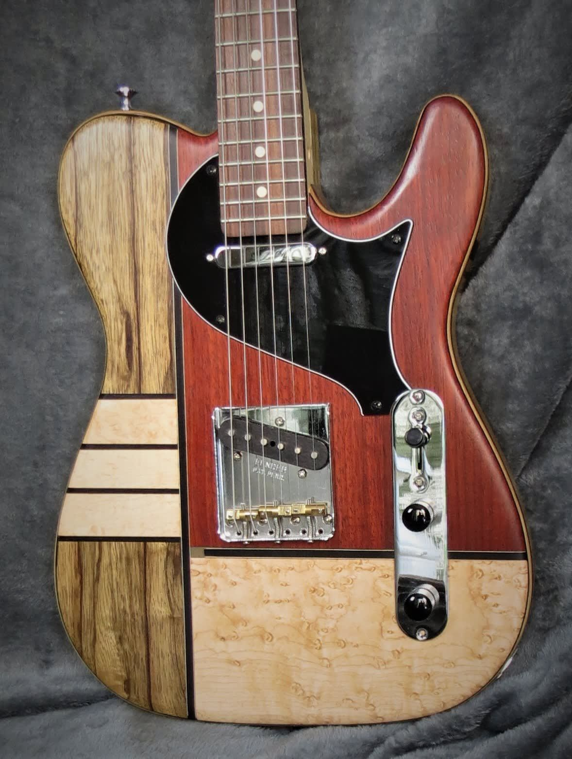 Telecaster Style Art Deco Light Weight Warmoth Boat Neck Hardcase Hand Made Babik Music Reverb Ovation Guitar Cool Guitar Acoustic Guitar