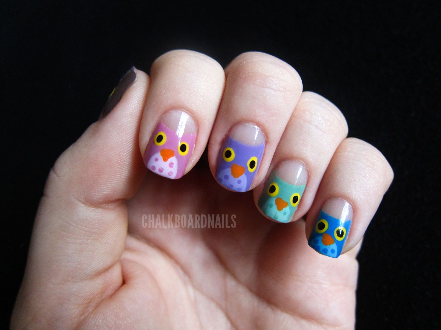 More Wols (Owls) | Nail Art | Pinterest