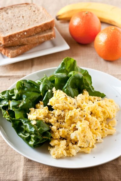 Cottage Cheese Scrambled Eggs: 2 Large Eggs, 1/4 To 1/3