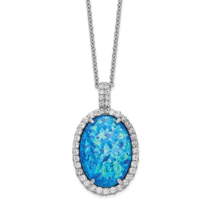 Diamond2Deal Sterling Silver Rhodium Plated CZ Flower Pendant