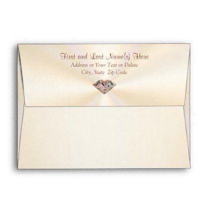 Stunning Ecru And Rose Gold Diamond Envelopes