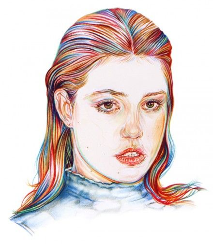 Week 4 Colorpencil Aline Zalko He Nicely Use The Colorpencil And