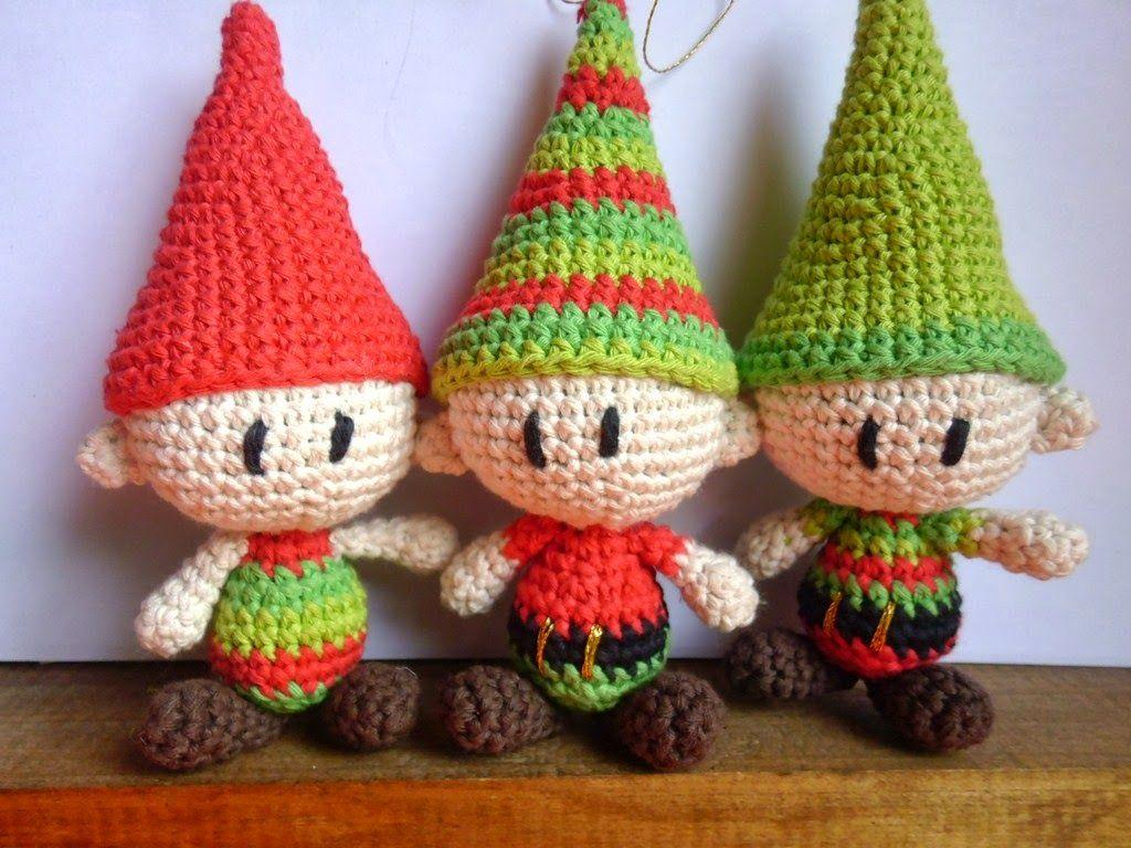 Amigurumis Navideños Patrones Gratis : Es un mundo amigurumi patrones: duendes navideños patrón a la