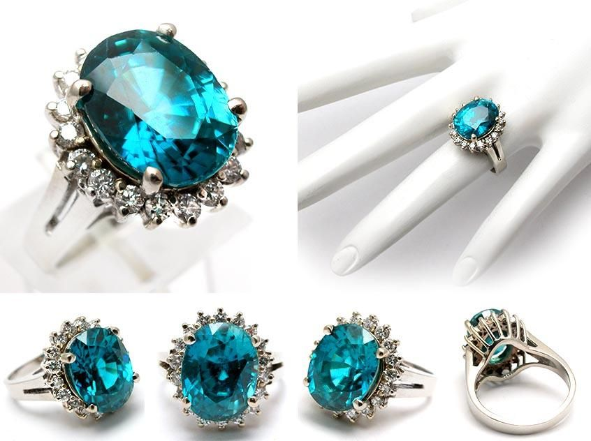 natural blue diamond rings Love this LS Eccentric Jewels