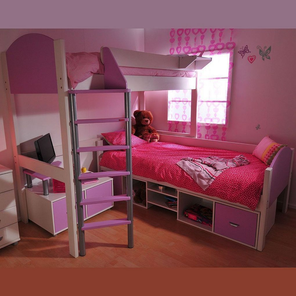 Low ceiling loft bed with desk   Wonderfull Relaxing Kids Room Decor Ideas  Home Decor
