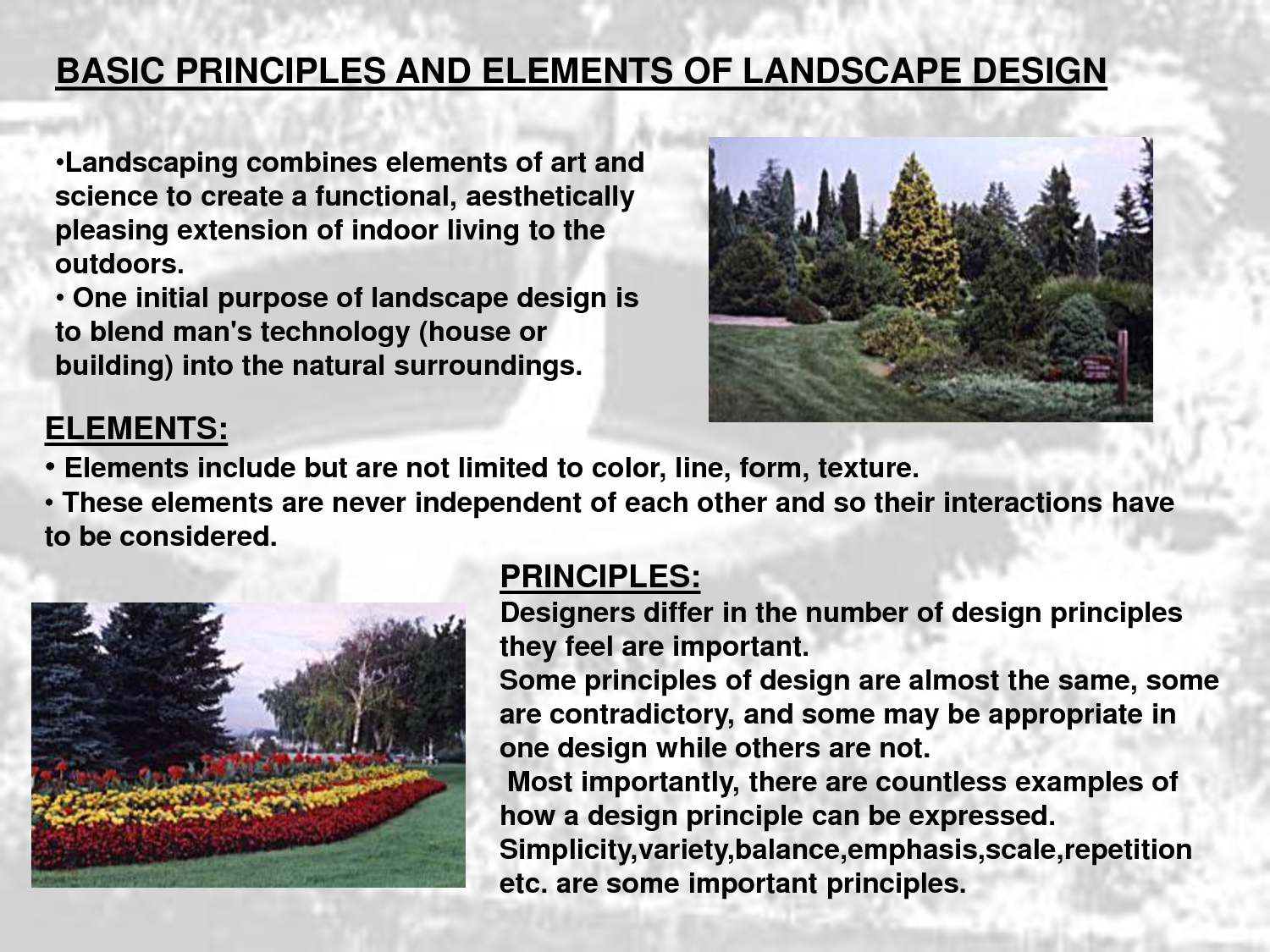 principles of landscape design and site planning by