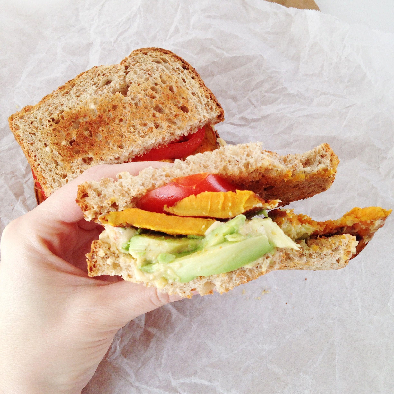 Sweet Potato & Avocado Sandwich {pumpkin & peanut butter}