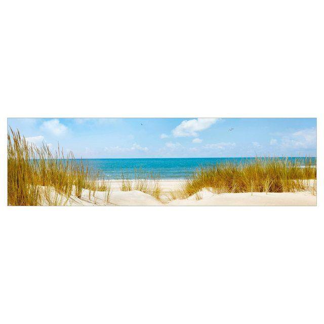 Küchenrückwand »Strand an der Nordsee« #woodfeaturewalls