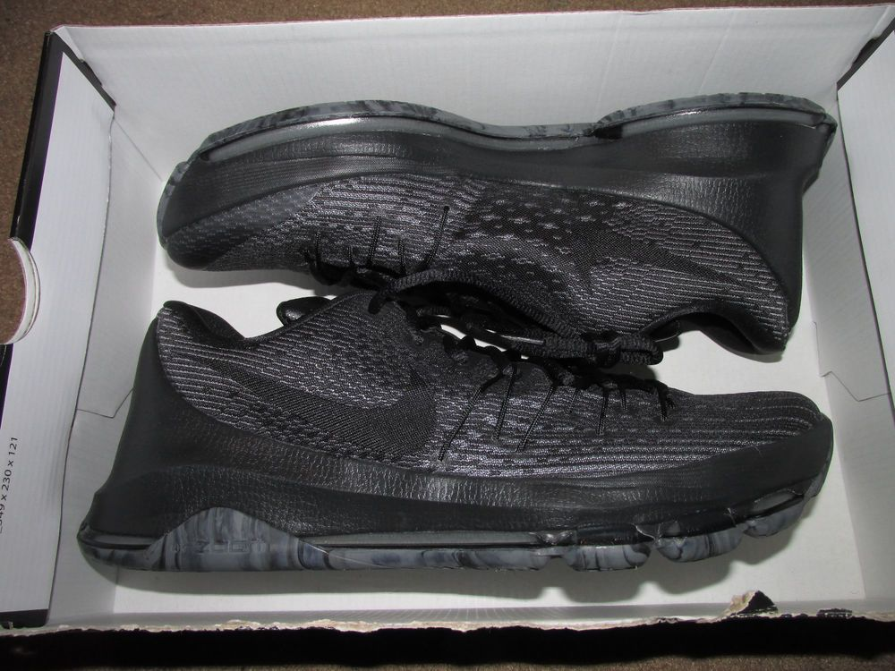 8a43ff081f8f Nike KD 8 Low Mens Basketball Shoes 10 Triple Black Blackout 749375 001   Nike  BasketballShoes