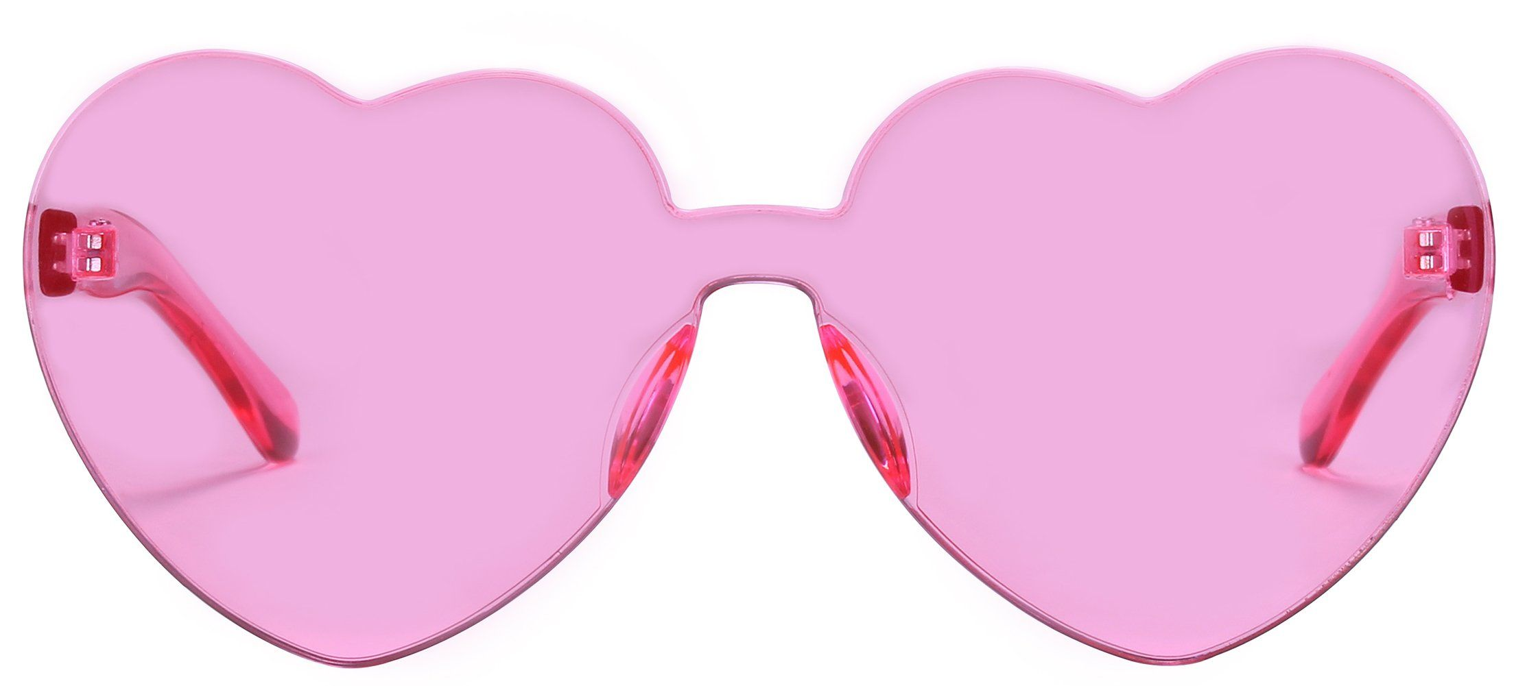 9a688590c1 Heart Shape Rimless Sunglasses One Piece Transparent Candy Color Eyewear    Check out the image by visiting the link.(It is Amazon affiliate link)   ...