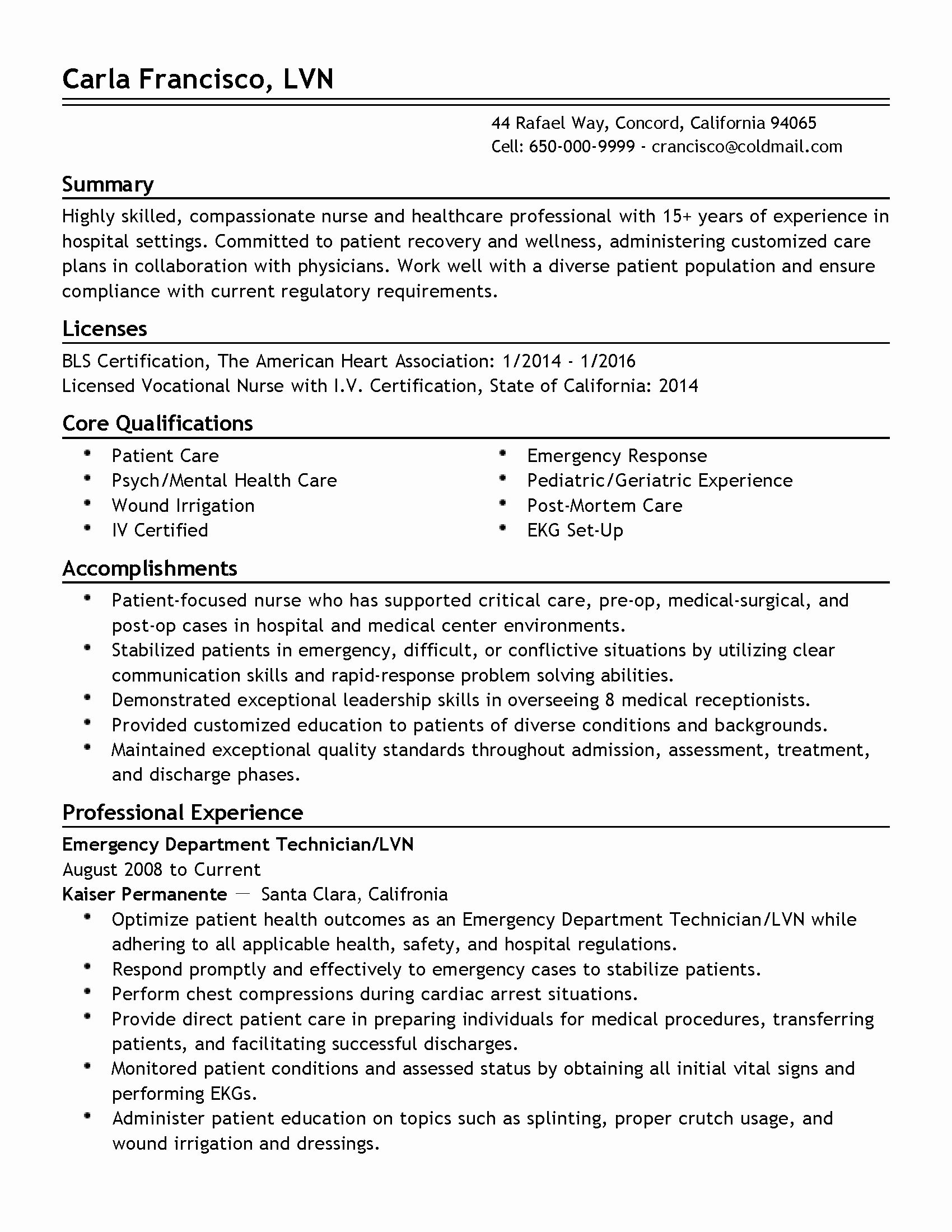 23 Patient Care assistant Job Description Resume in 2020