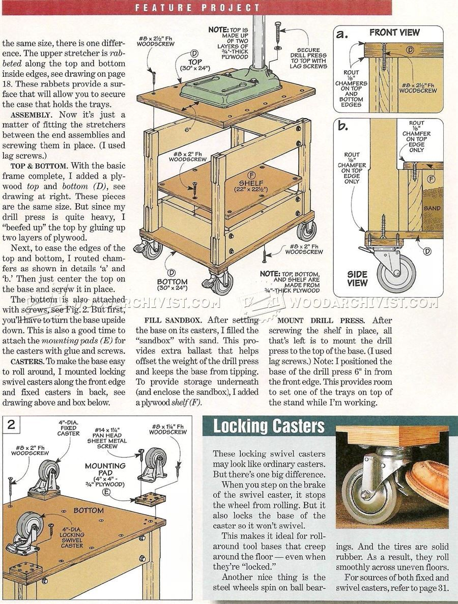 3217 Mobile Drill Press Stand Plans Drill Press Projects To Try