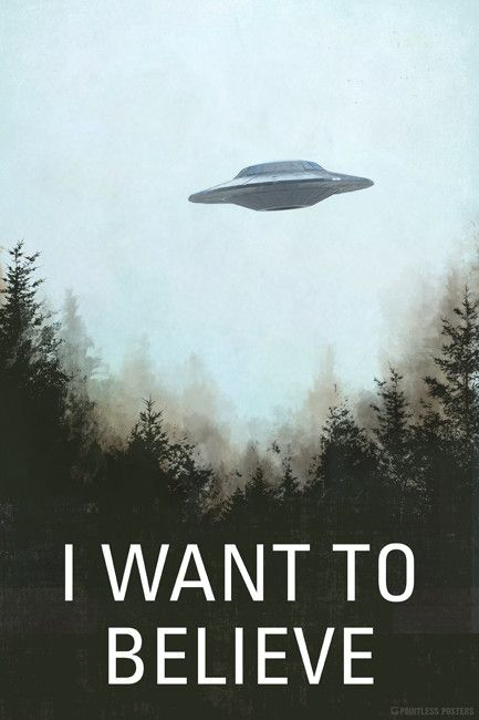 X Files Art Movie Film UFO Wall Print Sticker POSTER Decor I Want To Believe