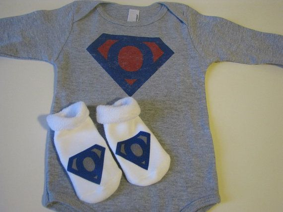 Personalized onesies for your super hero.