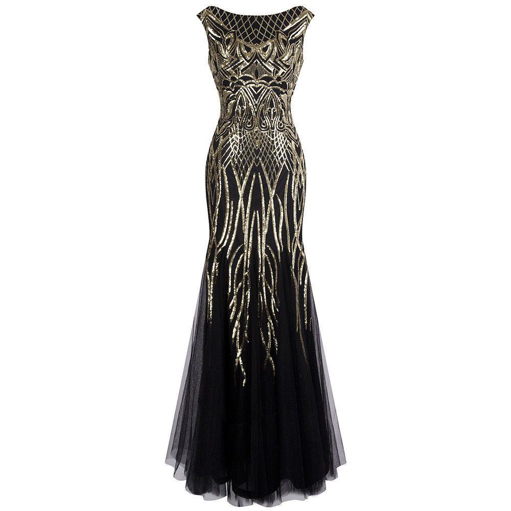 Angel Fashion Pattern Sequin Bateau Cap Sleeve Flapper Mermaid Evening Dress 377 Prom Dresses Long Prom Dresses Gatsby 1920s Prom Dress [ 1000 x 1000 Pixel ]