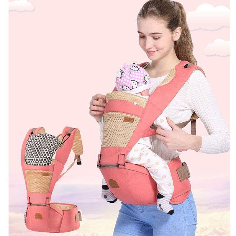 Respirant Ergonomique transporteur sac à dos Portable infantile porte-bébé  Kangourou siège pour hanche hipseat des tas avec suce pad bébé porteur de  bride ... f183264ae5a