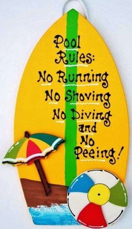 Surf Signs Decor Impressive Pool Rules Surfboard Sign Tropical Deck Tiki Bar Beach Hot Tub Decorating Design