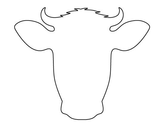 cow face pattern use the printable outline for crafts creating