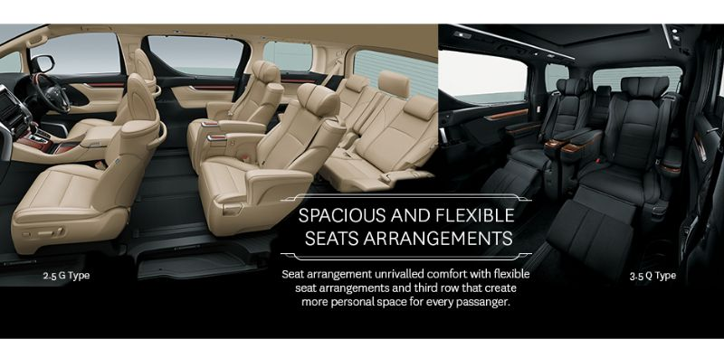 Toyota Alphard 2,5G Cmpare to 3.5Q - Interior - Seat and bottle holder - First Class Comfort for The Family - AUTO2000