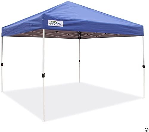 Amazing Offer On Goutime 10x10 Feet Pop Up Canopy Tent Instant Shelter Outdoor Straight Leg Portable Shade Wheeled Bag 10 X10 Blue Online Annetrendyfashi In 2020 Portable Shade Canopy Tent Pop