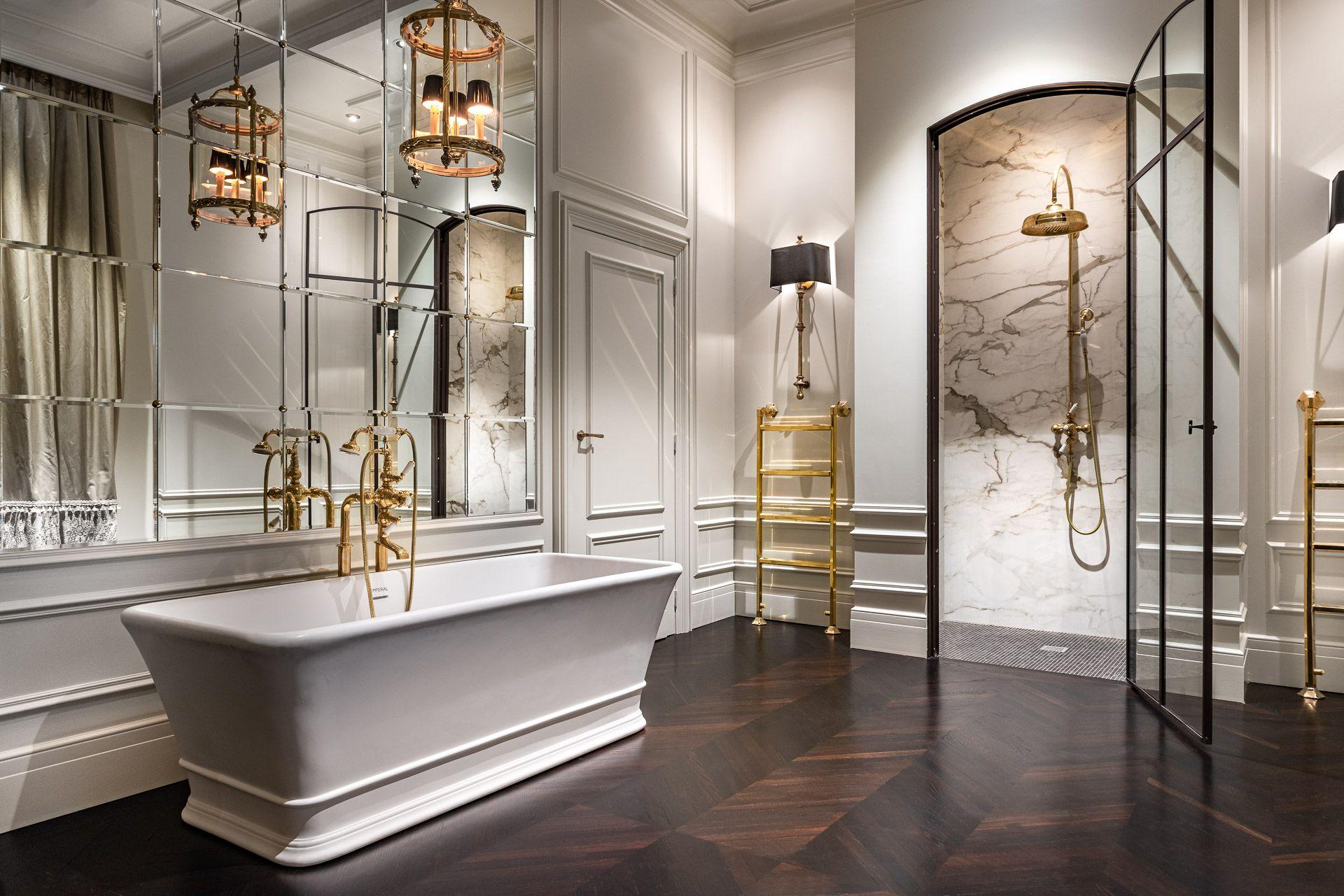 Showroom 4season Bathroom Messing Brass Luxe Bathroom Landelijke Badkamers Badkamer Badkamer Inspiratie