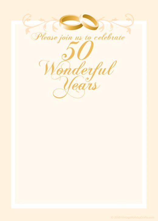 Free 50th Wedding Anniversary Invitations Templates 50th Anniversary Invitations 50th Wedding Anniversary Invitations Wedding Anniversary Invitations