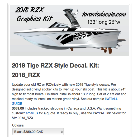 2018 Tige Rzx Graphics To Replace Your Old Ski Boat Stickers Tigebaots Tigeboatowners Tigeboatstickers3wakeboarding Skibo Boat Decals Boat Stickers Graphic Kit