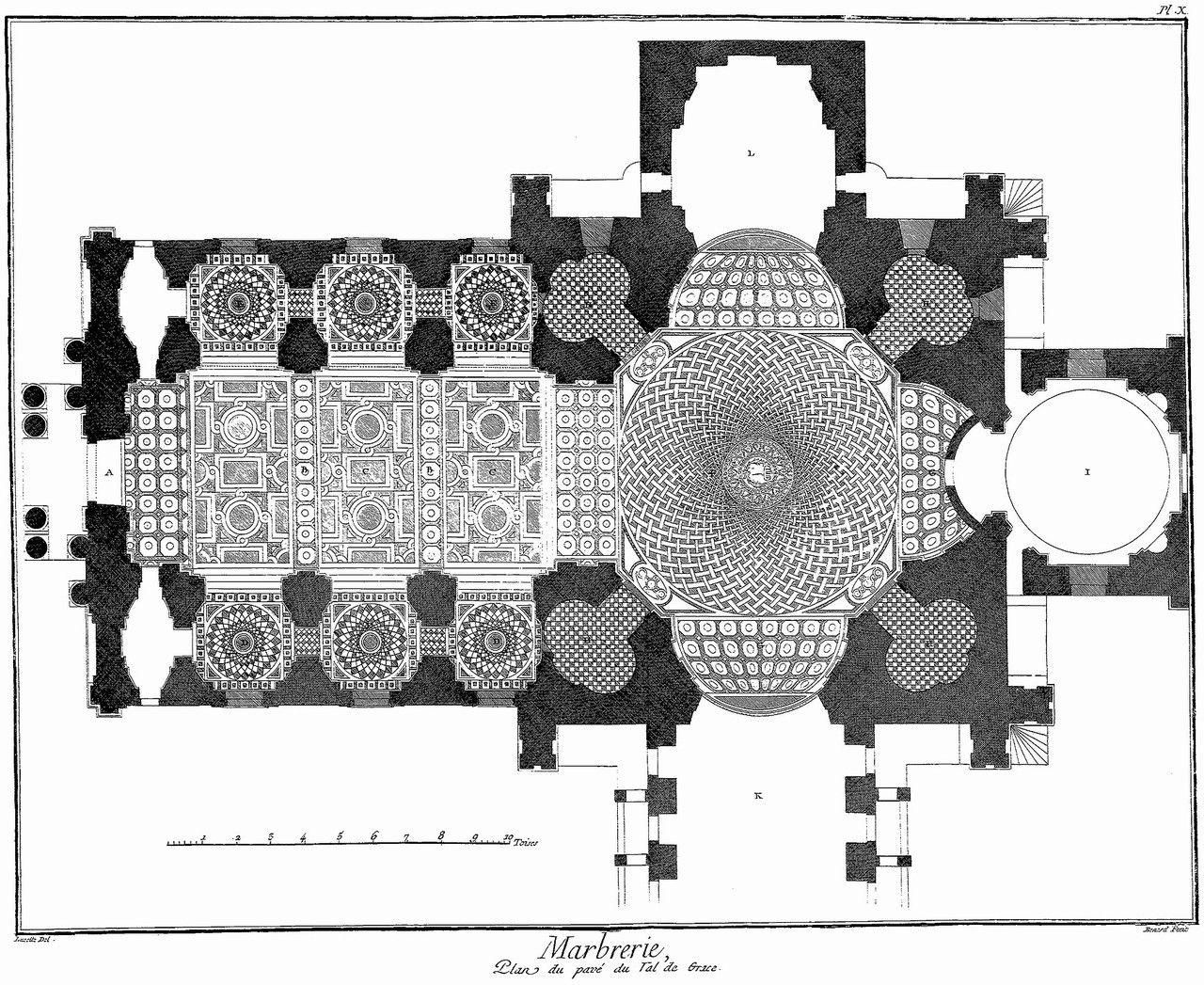 floor plan of the val de grâce church paris history of