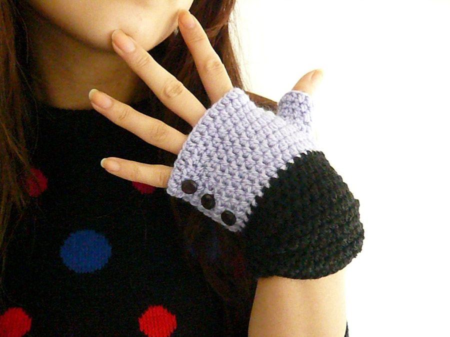 Guantes sin dedos tejidos | Guantes | Pinterest | Crochet, Mittens ...