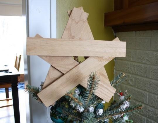 Diy Tutorial Diy Star Diy Wooden Tree Topper Bead Cord Wooden Diy Wooden Tree Star Diy
