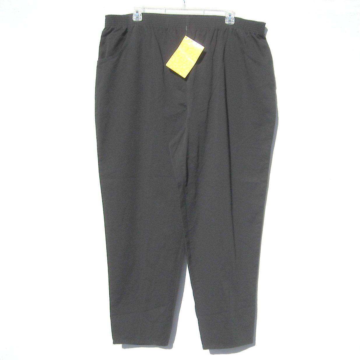 Signatures By Delta Burke Qvc Women S Black Cotton Pants Plus Size 3x Nwt Cotton Pants Black Cotton Delta Burke