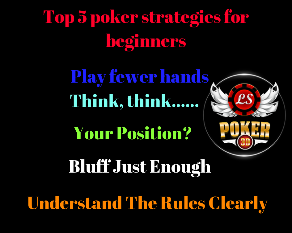 Top 5 poker strategies for beginners casino cardgames