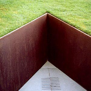 Corten Steel Green Google Search Steel Retaining Wall Garden Retaining Wall Retaining Wall