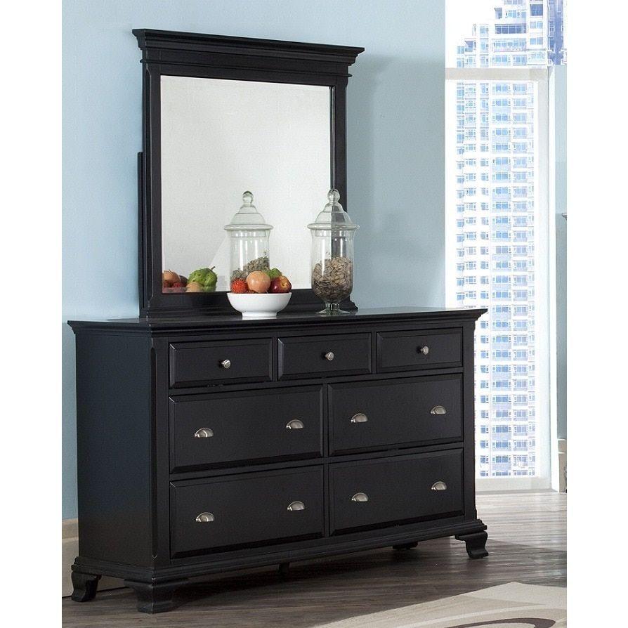 Laveno Wood 7drawer Dresser and Mirror (White