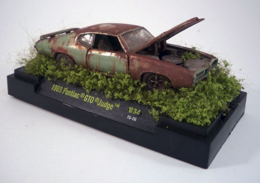 1969 Pontiac GTO Judge Custom Weathered Barn Find Unrestored 1 64 Diorama M2 CastlineM2MachinesAutoTrucks