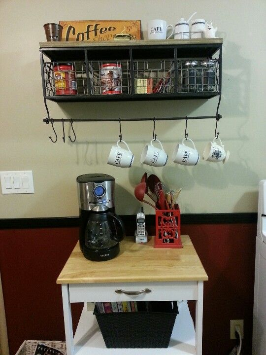 Coffee Station Hobby Lobby Shelf With Wire Baskets Hobby Lobby Shelves Changing Spaces Home Decor
