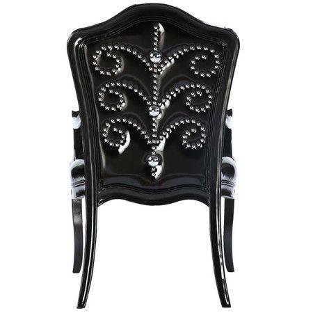 diabla black chair silver nail heads | Diablo Accent Chair - Devonshire Interiors on Wayfair