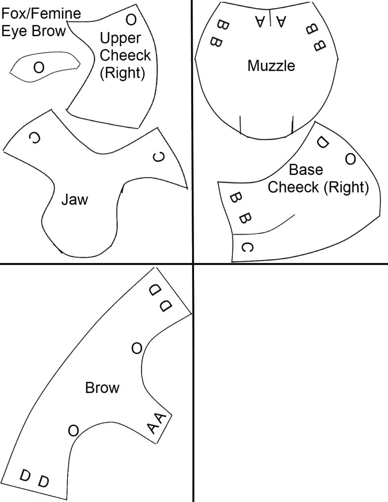 Just a typical toony canine foam pattern to be used when making a ...