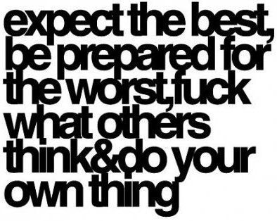 Expect The Best Be Prepared For The Worst Sayingimages Com Words Quotes To Live By Best Quotes