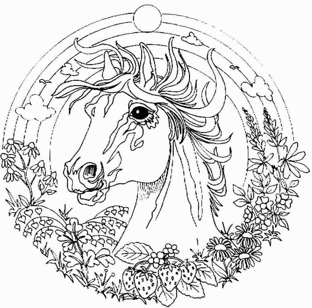 Coloriage de mandala de cheval imprimer et obtenir une coloriage gratuit ici - Mandala de chevaux ...