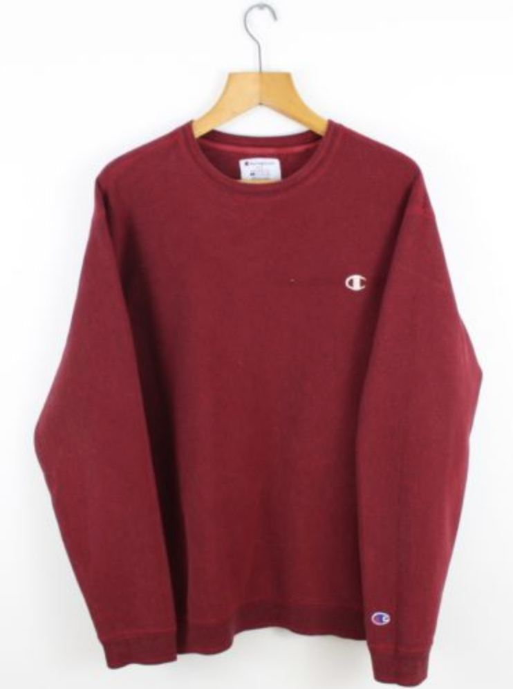 FOR SALE Vintage CHAMPION USA Burgundy Red Sweatshirt